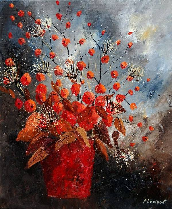 Flowers Poster featuring the painting Bunch 560608 by Pol Ledent
