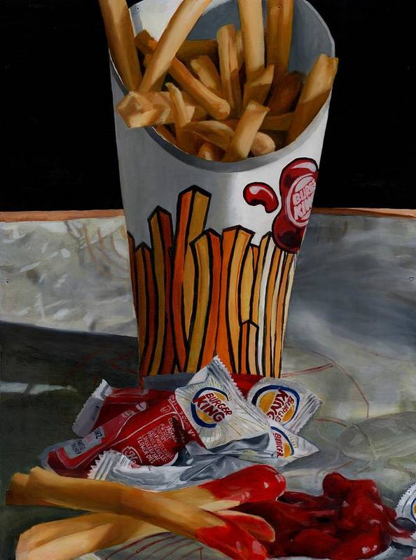 Fried Food Poster featuring the painting Burger King Value Meal No. 5 by Thomas Weeks