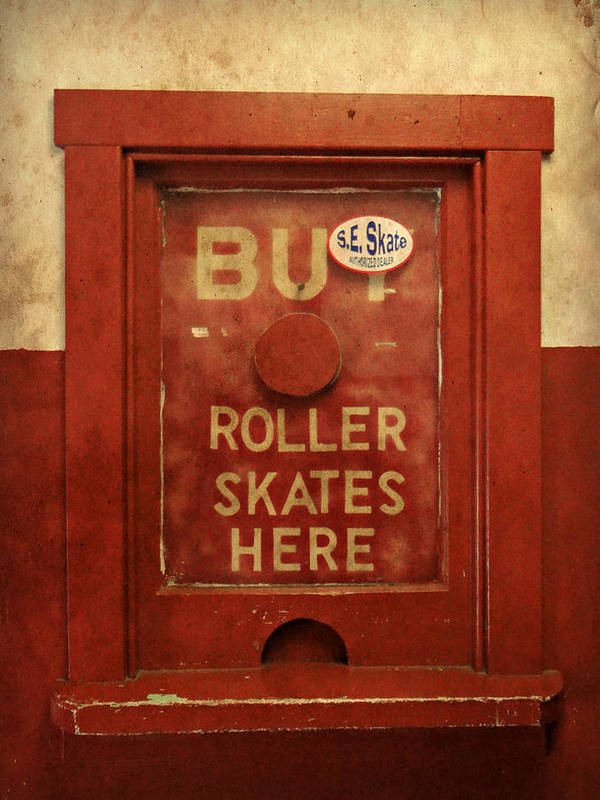 Buy Skates Here Poster featuring the photograph Buy Skates Here by Brenda Conrad