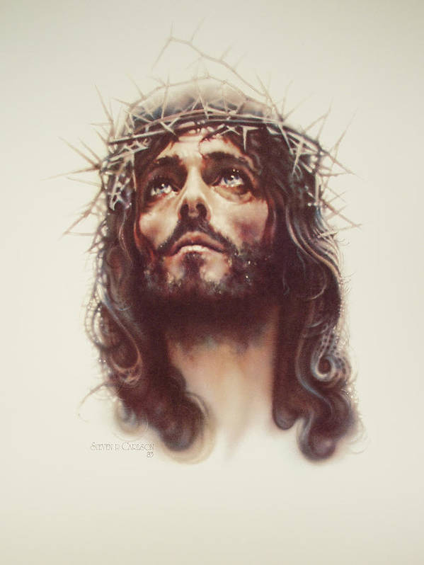 Jesus Poster featuring the painting By His Wounds by Steven Paul Carlson