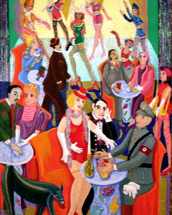 Surreal Poster featuring the painting Cabaret by Maria Alquilar