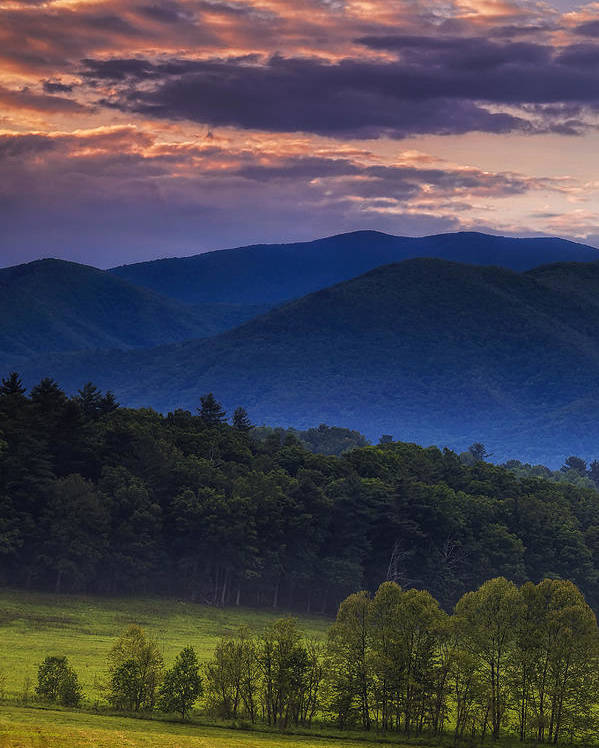 Cades Cove Poster featuring the photograph Cades Cove Morning by Andrew Soundarajan