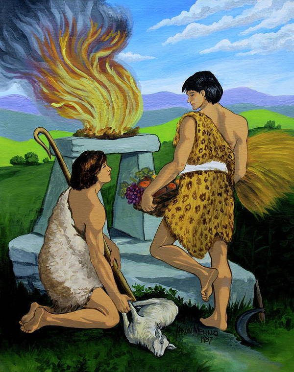Original Poster featuring the painting Cain And Abel by Karon Melillo DeVega