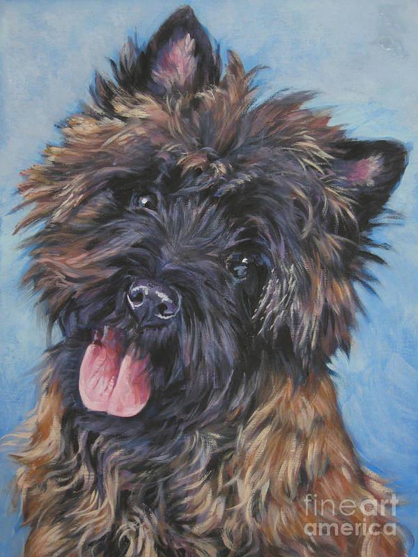 Cairn Terrier Poster featuring the painting Cairn Terrier Brindle by Lee Ann Shepard