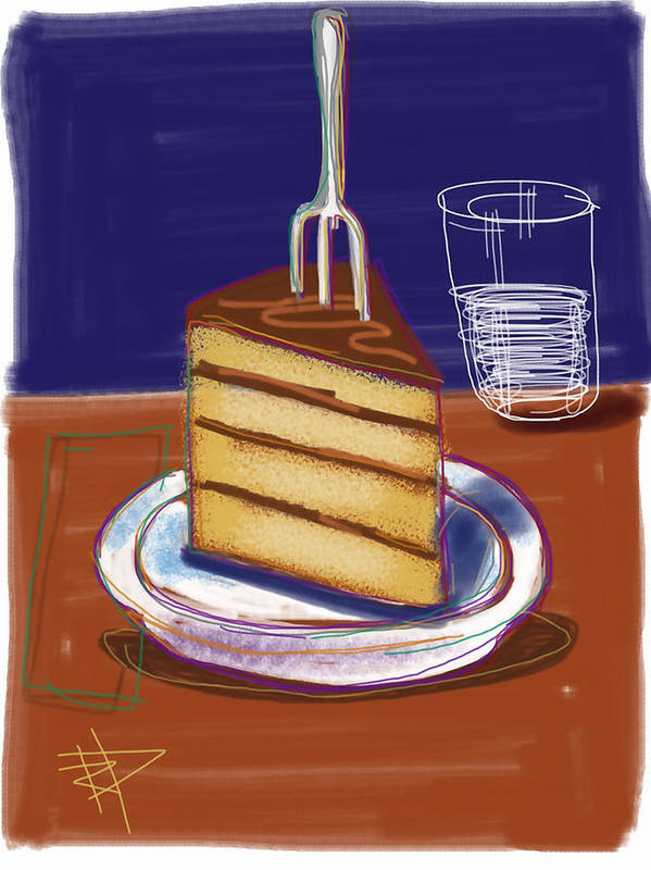 Cake Poster featuring the digital art Cake by Russell Pierce