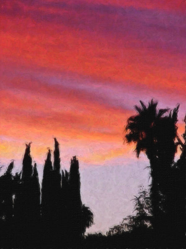 California Poster featuring the painting California Sunset Painting 3 by Teresa Mucha