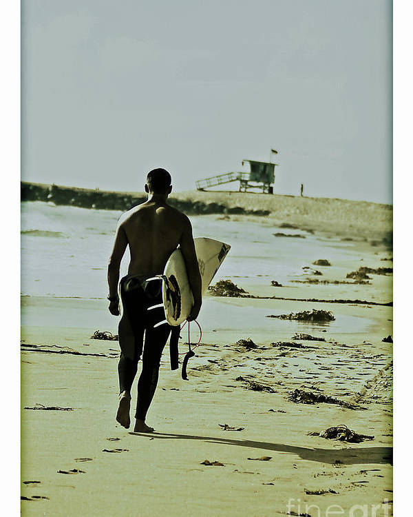Surfer Poster featuring the photograph California Surfer by Scott Pellegrin