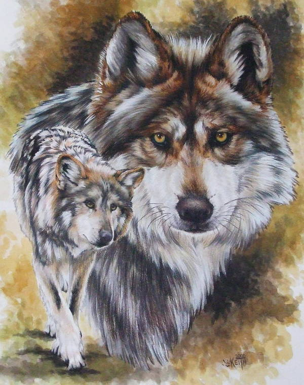 Wildlife Poster featuring the mixed media Callidity by Barbara Keith