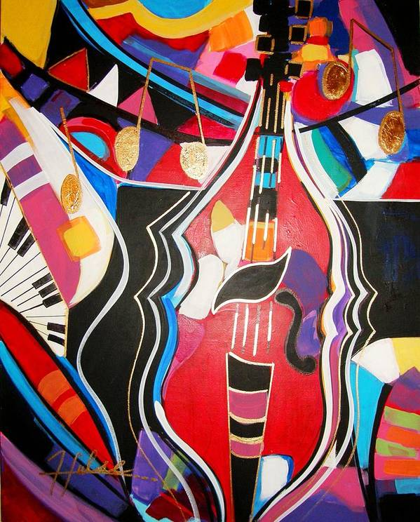 Music Poster featuring the painting Calling Me Home by Gina Hulse