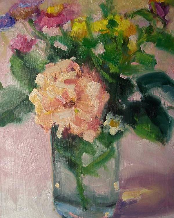 Painting Poster featuring the painting Cambria Flowers by Susan Jenkins