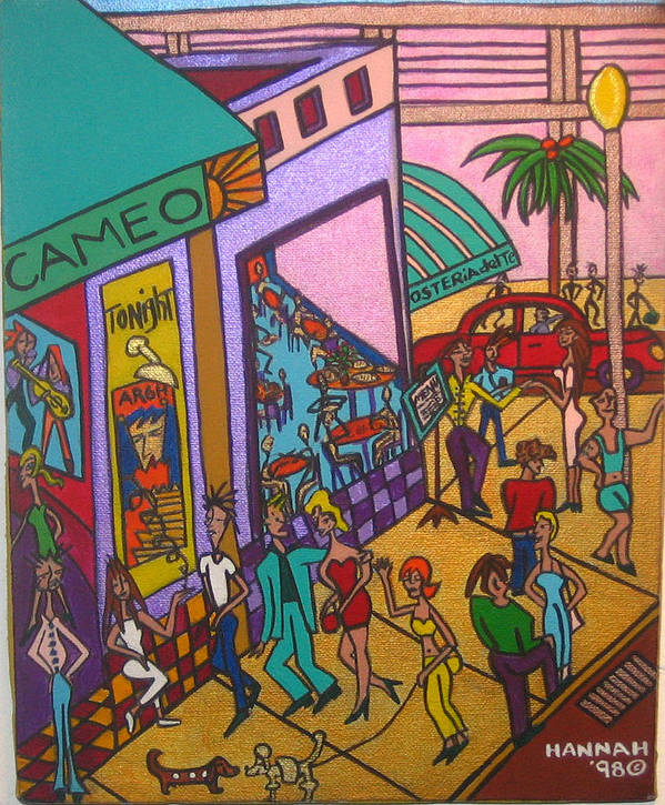 Street Scene Poster featuring the painting Cameo by Hannah Lasky