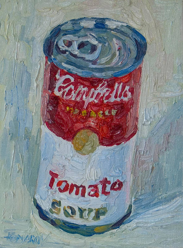 Campbell's Soup Poster featuring the painting Campbell's Soup by Vitali Komarov