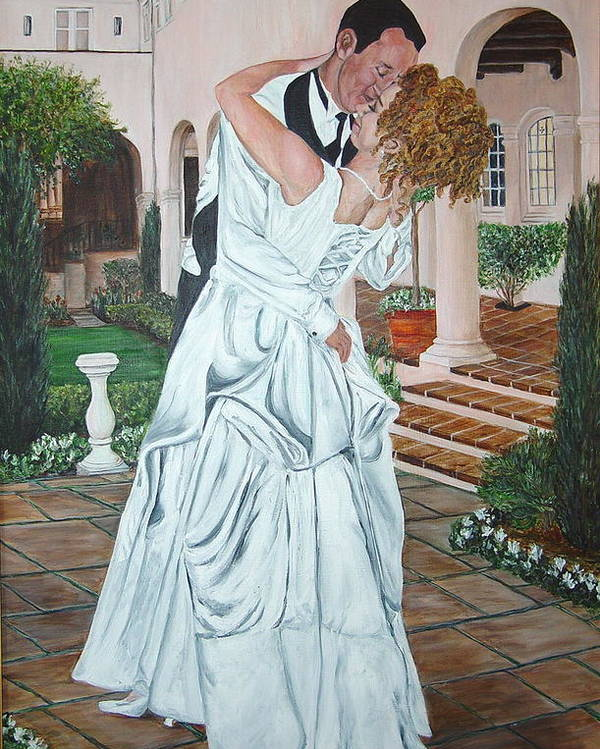 Wedding Poster featuring the painting Can I Have This Dance For The Rest Of My Life by Bonnie Peacher