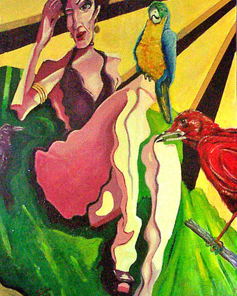 Figurative Poster featuring the painting Cancion Del Pajaro by Elio Lopez