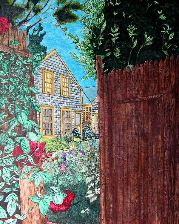Cottage Poster featuring the painting Cape Cod Cottage by Joshua Armstrong