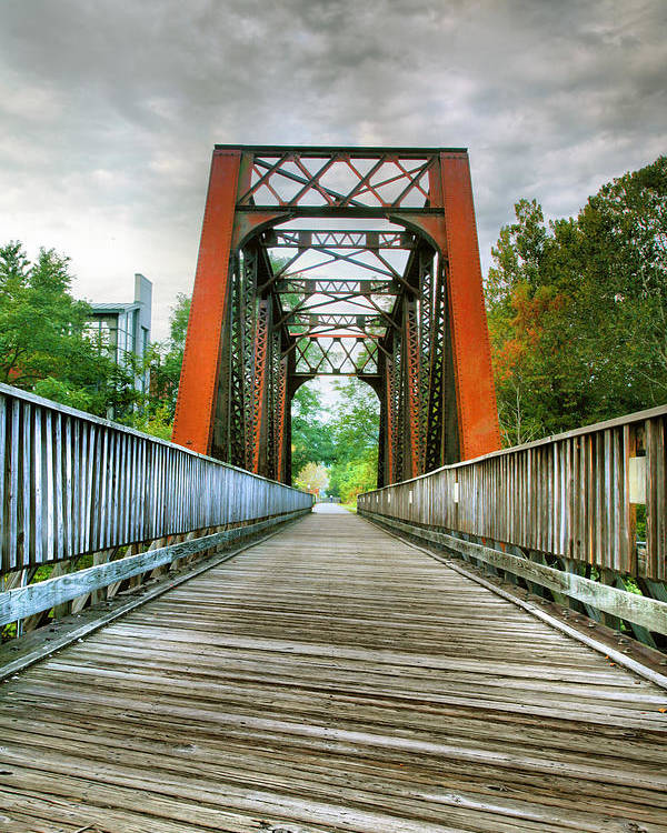 Trail Poster featuring the photograph Caperton Trail And Bridge by Steven Ainsworth