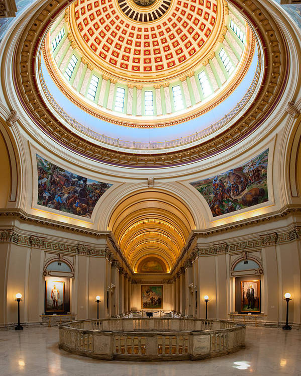 Administration Poster featuring the photograph Capitol Interior II by Ricky Barnard