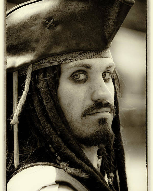 Pirate Poster featuring the photograph Captain Jack Sparrow by David Patterson