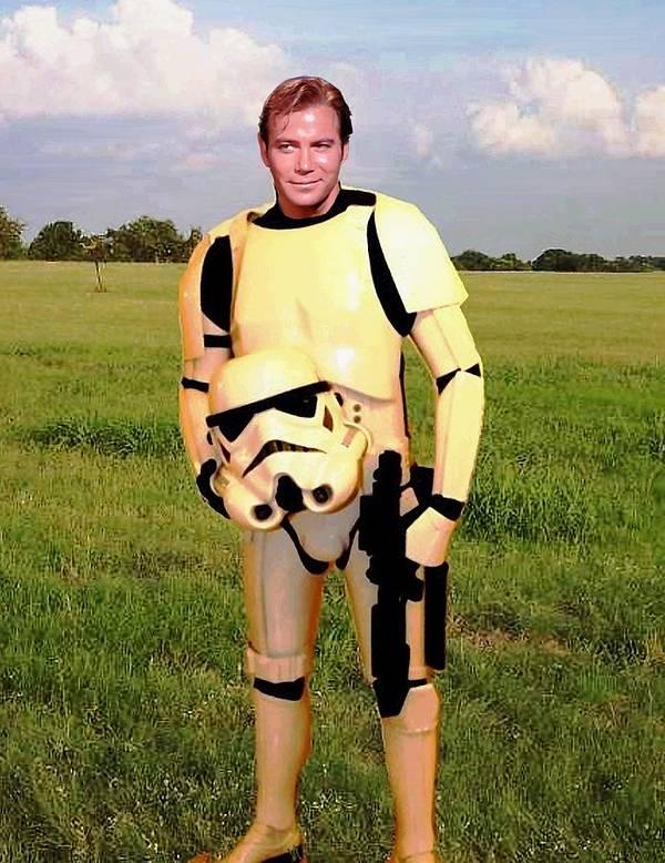 Star Wars Poster featuring the painting Captain James T Kirk Stormtrooper by Paul Van Scott