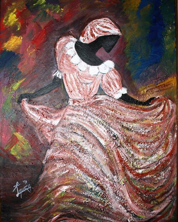 Poster featuring the painting Caribbean Dancer by Laura Fatta