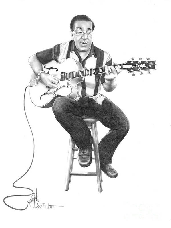 Drawing Poster featuring the drawing Carmine D'amico by Murphy Elliott