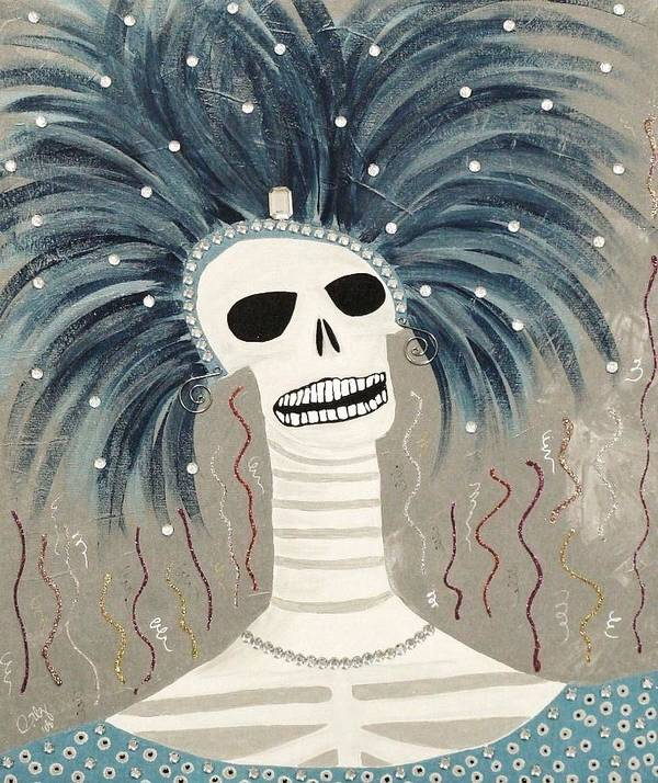 Dia De Los Muertos Poster featuring the painting Carnaval by Ofelia Uz