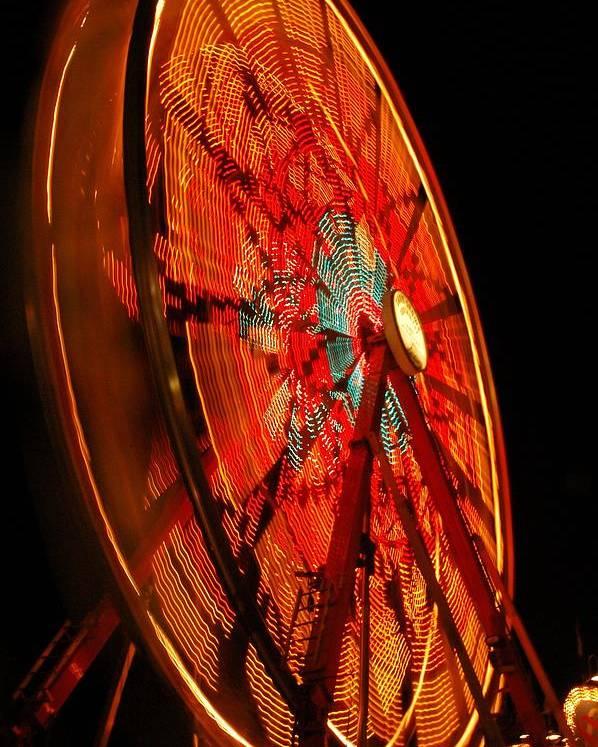 Ferris Wheel Poster featuring the photograph Carnival Ferris Wheel by Owen Ashurst