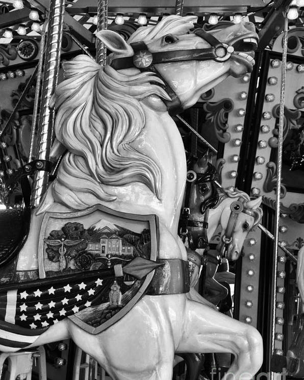 Carousel Poster featuring the photograph Carousel Beauty Salem Oregon 12 by Bob Christopher