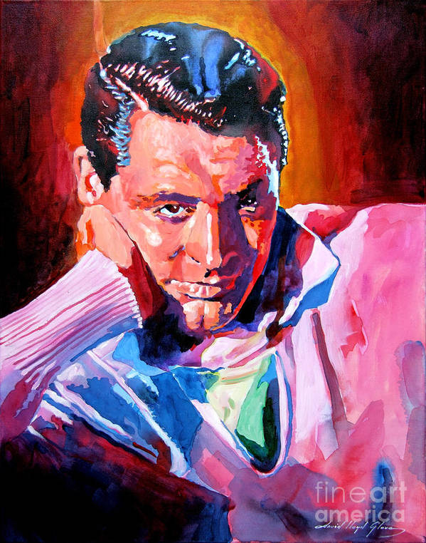 Cary Grant Poster featuring the painting Cary Grant - Debonair by David Lloyd Glover