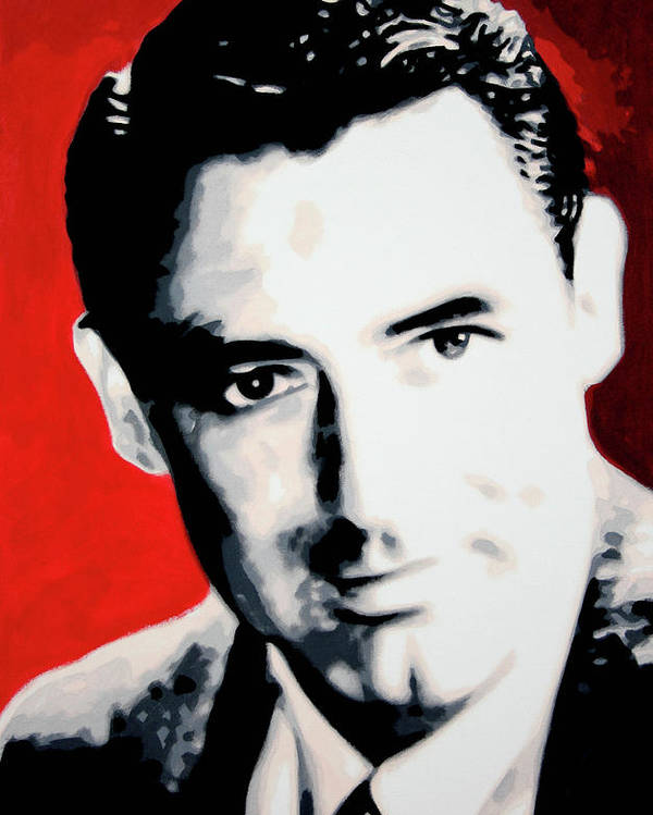 Cary Grant Poster featuring the painting Cary Grant by Luis Ludzska