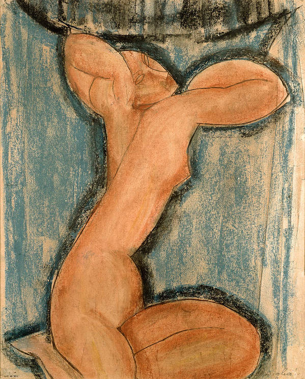 Caryatid Poster featuring the painting Caryatid by Amedeo Modigliani