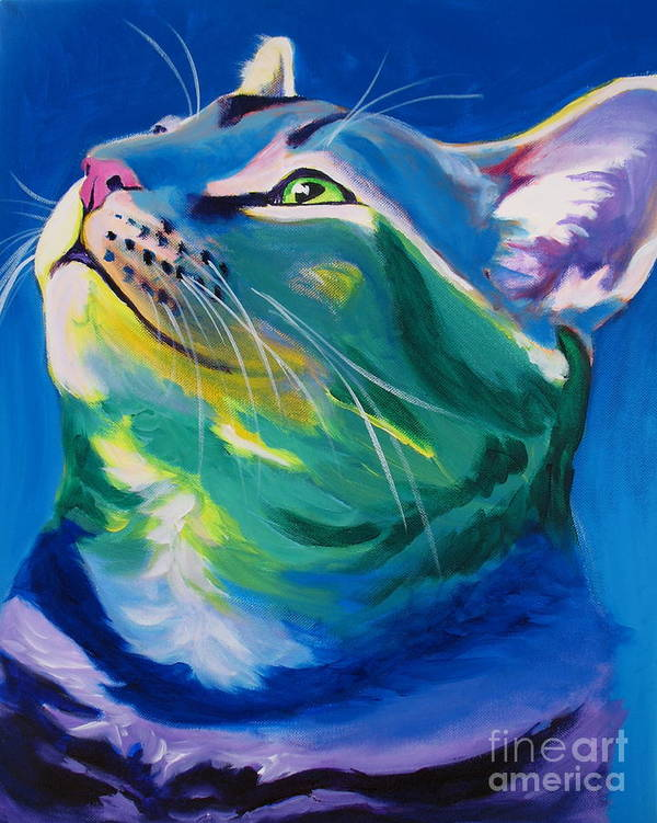Cat Poster featuring the painting Cat - My Own Piece Of Sky by Alicia VanNoy Call