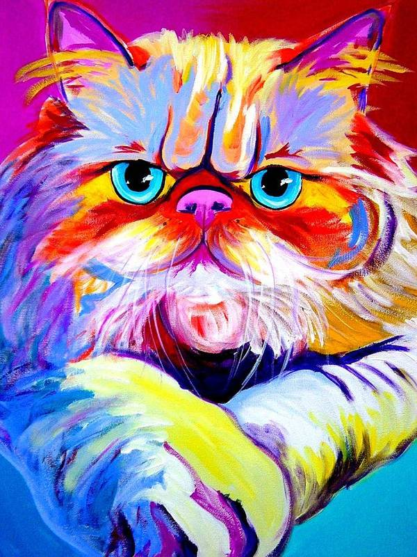 Cat Poster featuring the painting Cat - Tigger by Alicia VanNoy Call