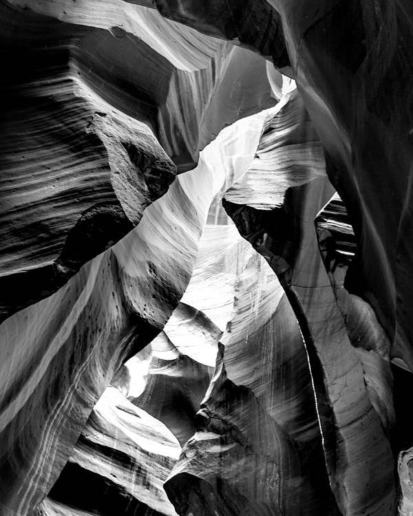 Antelope Canyon Poster featuring the photograph Cathedral Cave by Az Jackson