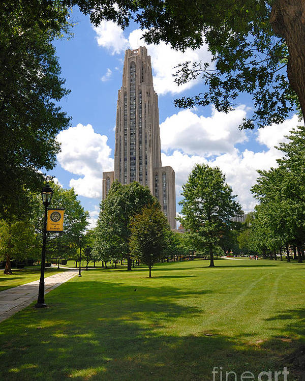 Allegheny County Poster featuring the photograph Cathedral Of Learning University Of Pittsburgh by Amy Cicconi