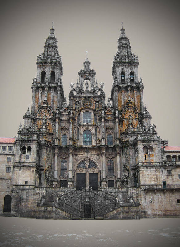 Cathedral Poster featuring the photograph Cathedral Of Santiago De Compostela by Jasna Buncic