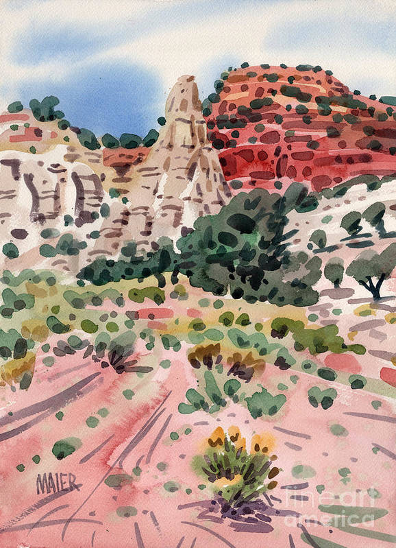 Cathedral Rock Poster featuring the painting Cathedral Rock by Donald Maier