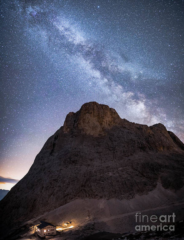 Catinaccio Poster featuring the photograph Catinaccio And The Milky Way, Italy by Craig McDearmid