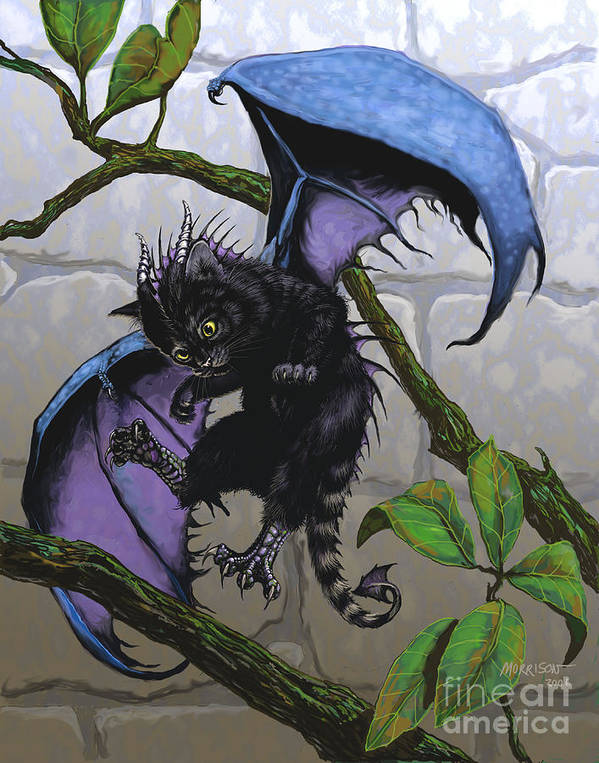 Fantasy Poster featuring the digital art Catragon by Stanley Morrison