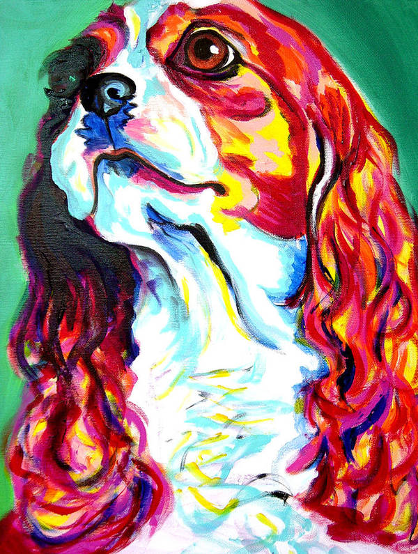 Dog Poster featuring the painting Cavalier - Herald by Alicia VanNoy Call