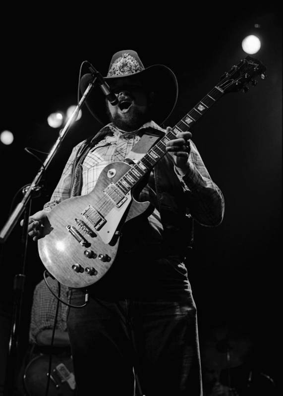 Charlie Daniels Poster featuring the photograph Cdb Winterland 12-13-75 #4 by Ben Upham