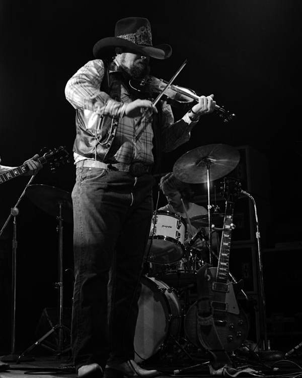 Charlie Daniels Poster featuring the photograph Cdb Winterland 12-13-75 #7 by Ben Upham
