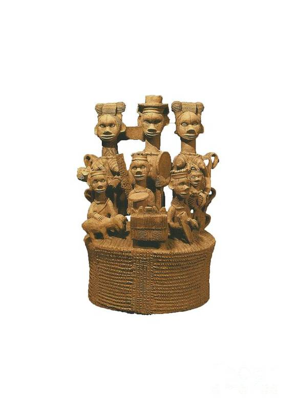 Photograph. Terra-cotta Figurines From The Central Region Of Nigeria. Circa 650 Bc Poster featuring the photograph Central 13 by Chinazor Onianwah