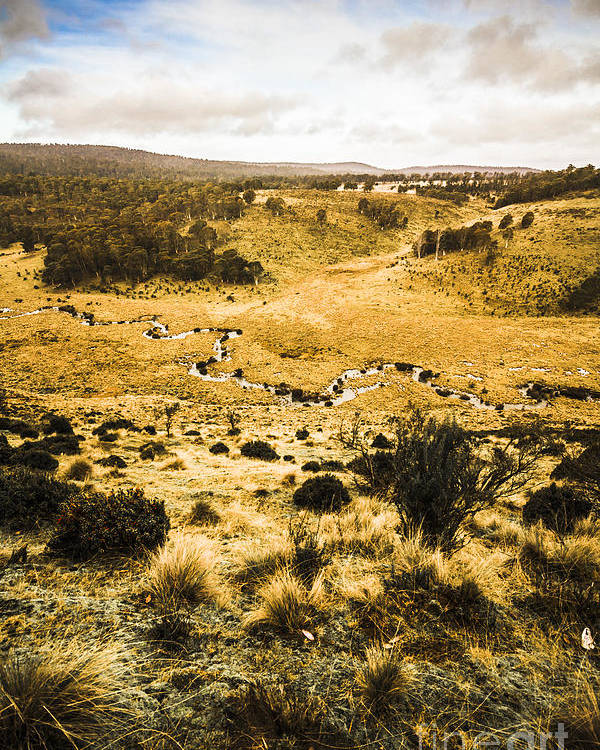 Floodplain Poster featuring the photograph Central Highlands Of Tasmania by Jorgo Photography - Wall Art Gallery