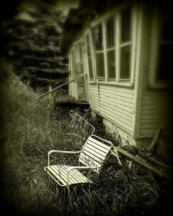 Chair Poster featuring the photograph Chair In Grass by Perry Webster