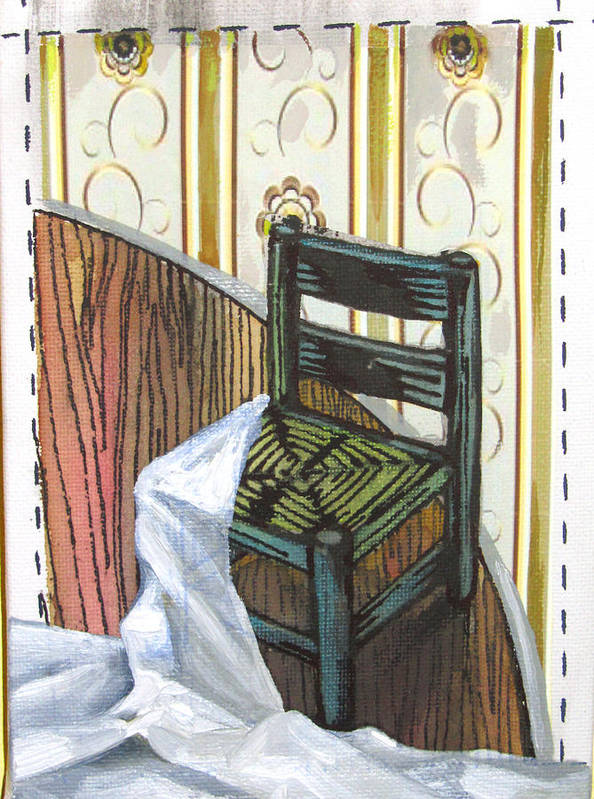 Chair Poster featuring the painting Chair Iv by Peter Allan
