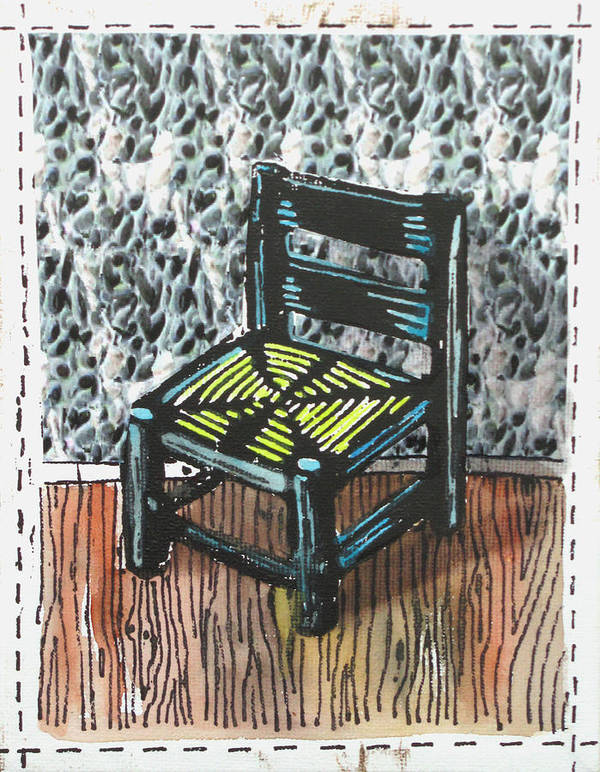 Chair Poster featuring the mixed media Chair Ix by Peter Allan