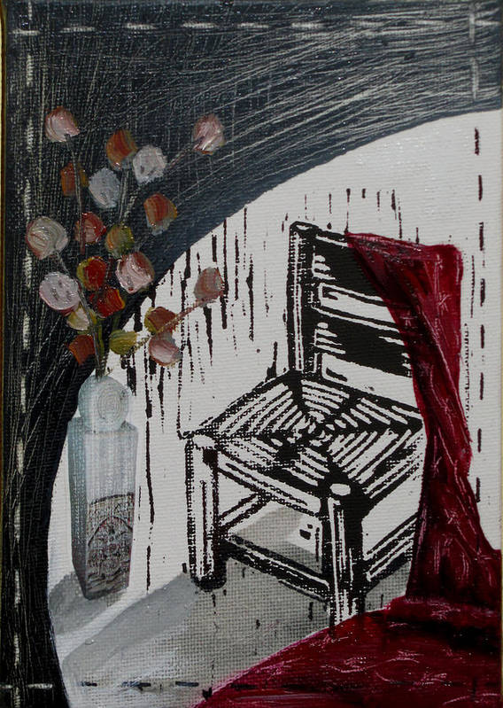 Chair Poster featuring the mixed media Chair Viii by Peter Allan