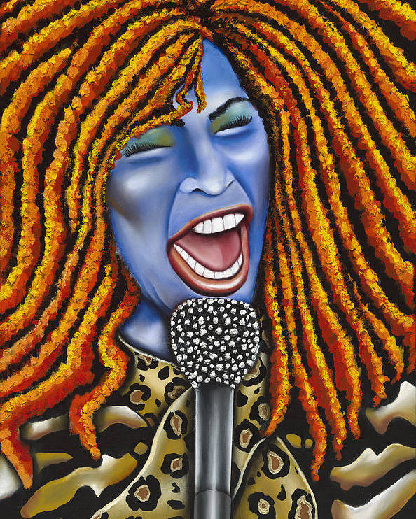 Portrait Poster featuring the painting Chaka by Nannette Harris