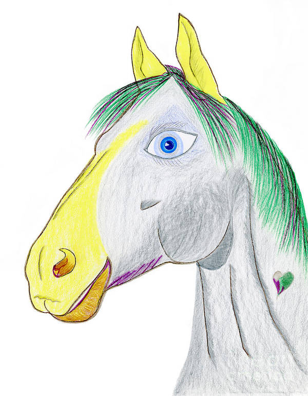 Horse Poster featuring the painting Chanel by Tess M J Iroldi